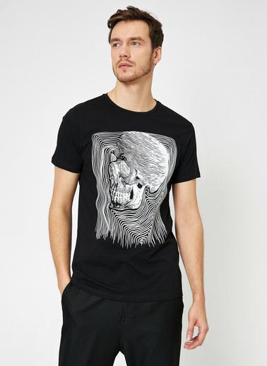 Koton Baskılı T-Shirt Siyah